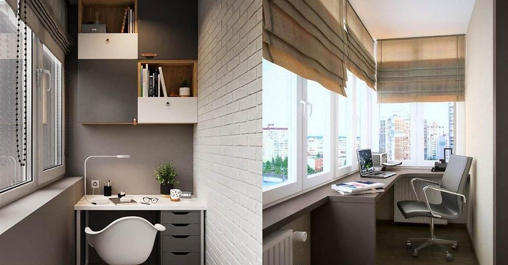 Office in balcony